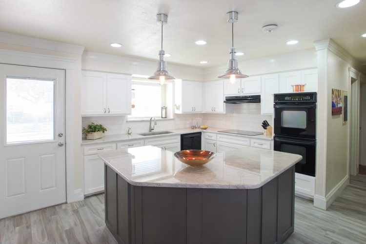 Bedford Kitchen Remodel Island and Pendants