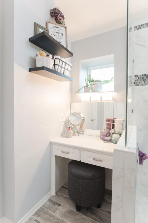 Fort Worth Bathroom Remodel with a Vanity