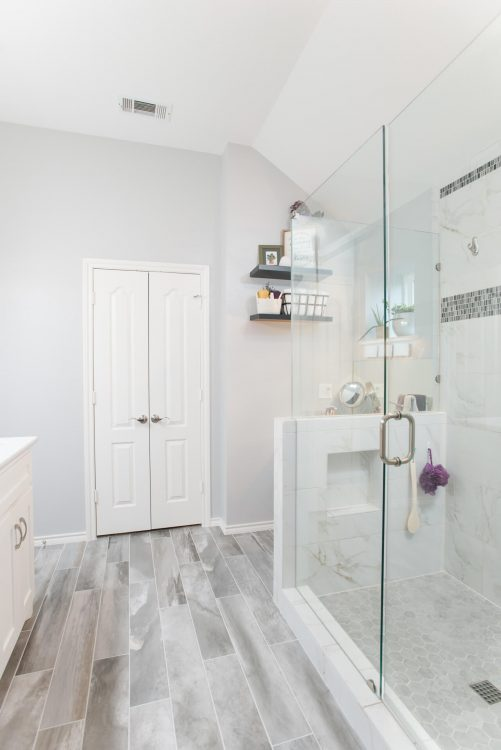 Fort Worth Bathroom Remodel with Spacious Shower