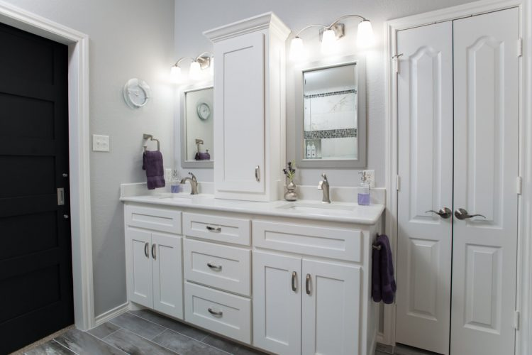Fort Worth Master Bathroom Remodel with Tower on Vanity