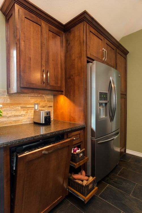 Ft Worth Kitchen Remodel with Vegetable Pullouts
