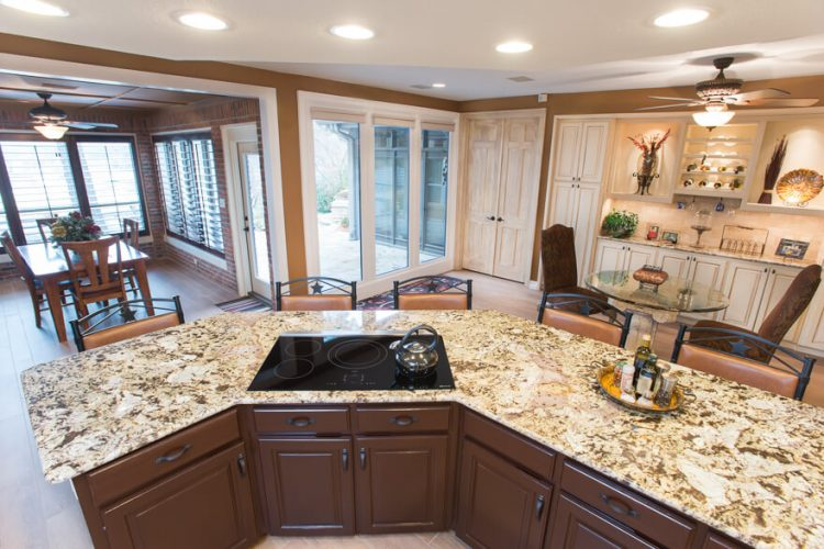 Colleyville Kitchen Remodel Cooktop in Island