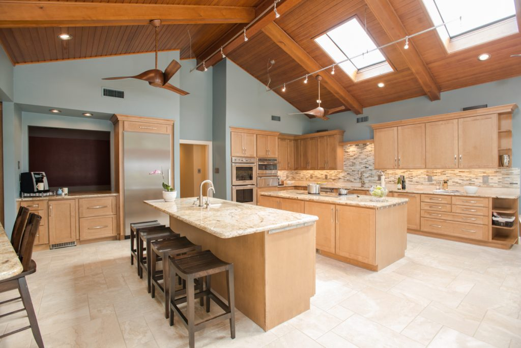 Expansive Arlington Kitchen Remodel Multiple Islands
