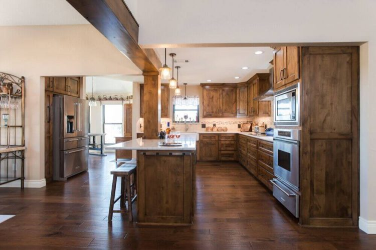 Fort Worth Kitchen Remodel Hardwood Flooring
