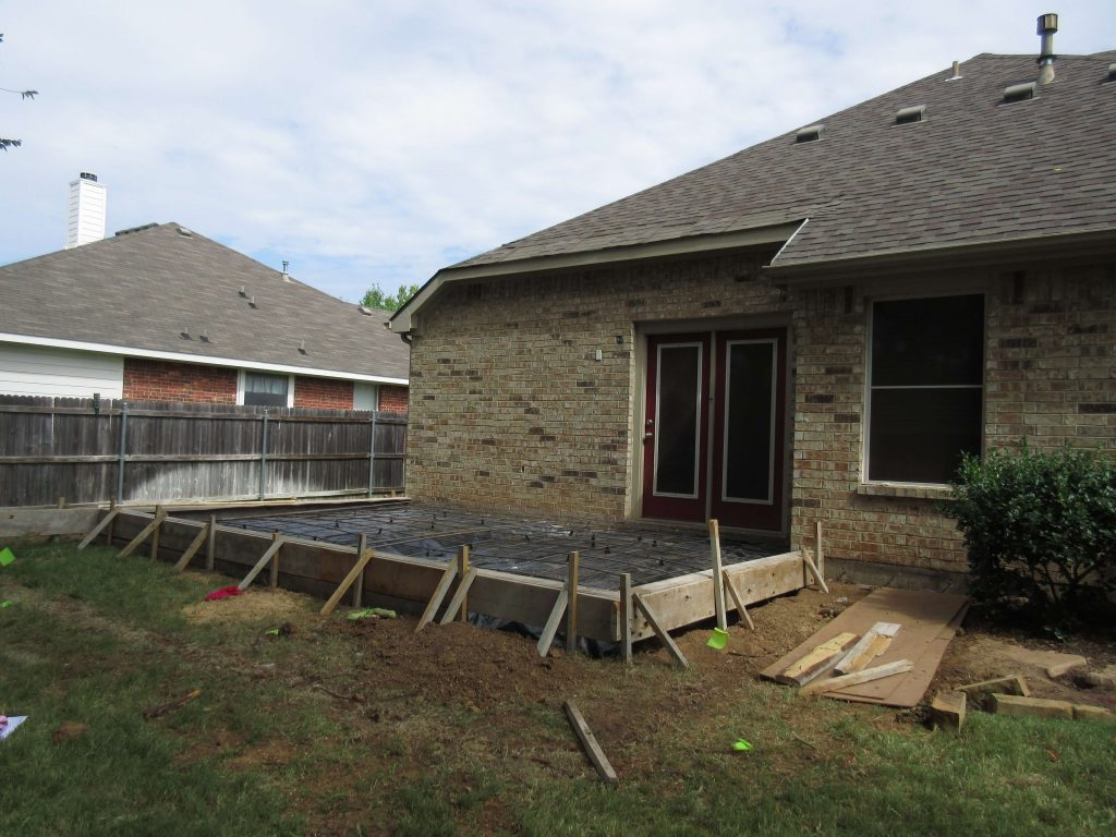 Ft Worth New Addition Sunroom with Poured Foundation