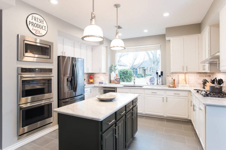Grapevine Kitchen Remodel Grey Island