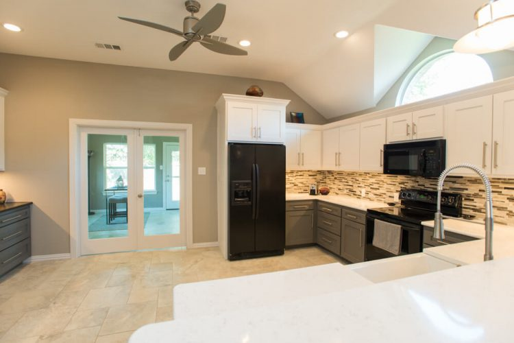 Ft Worth Kitchen Remodel with White Cabinets