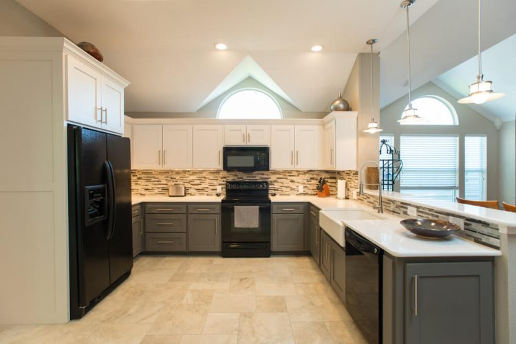 Ft Worth Kitchen Remodel with Two Toned Cabinets