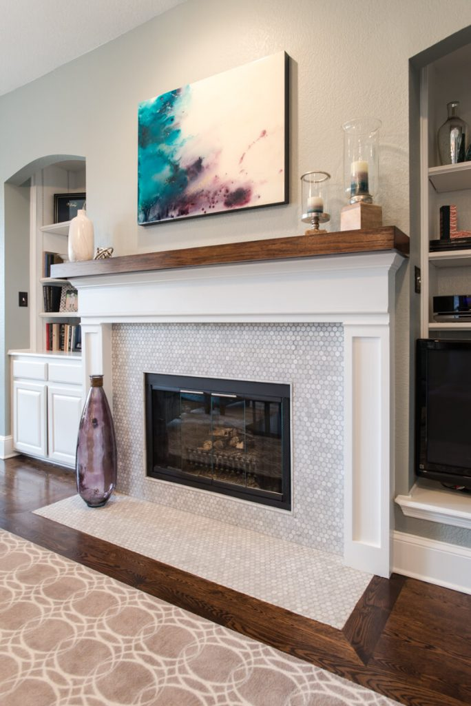Fort Worth Whole Home Remodel With Marble Tile Fireplace