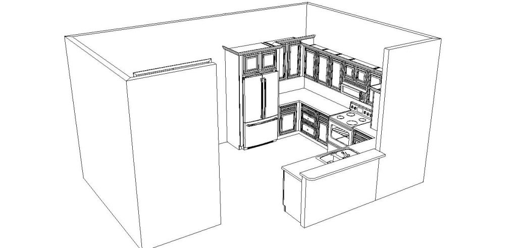 Fort Worth Kitchen Remodel Rendering Image