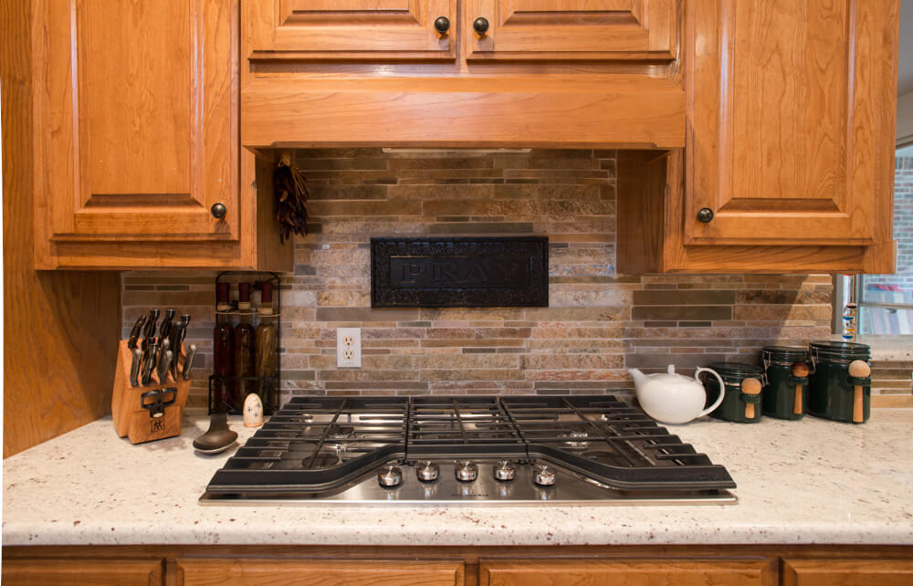 Ft Worth Whole Home Remodel with Quartz Stack Stone Backsplash