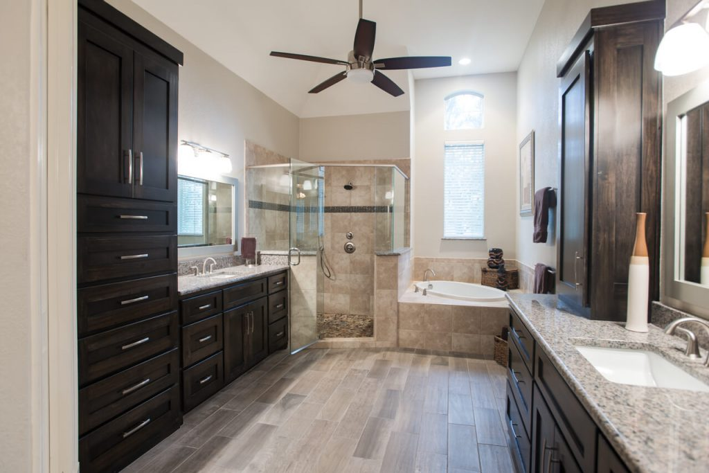 Fort Worth Bathroom Remodel with Large Layout