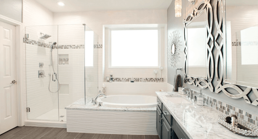 Ft Worth Bathroom Remodel with Shower and Bathtub