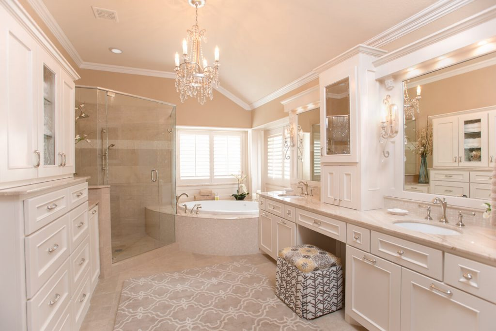 Fort Worth Bathroom Remodel with Chrome Accents