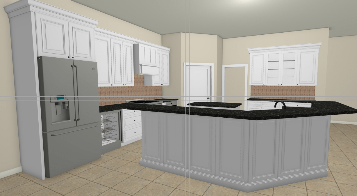 Color Cabinet Design of Keller Kitchen Remodel