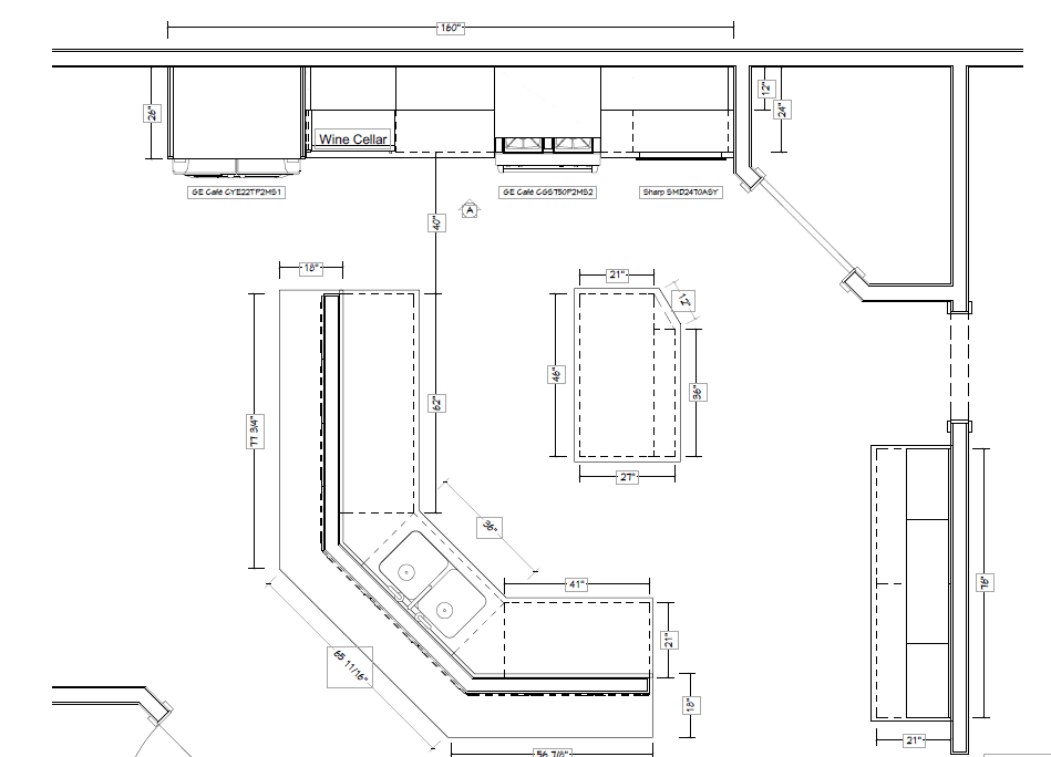 Layout of Keller Kitchen Remodel