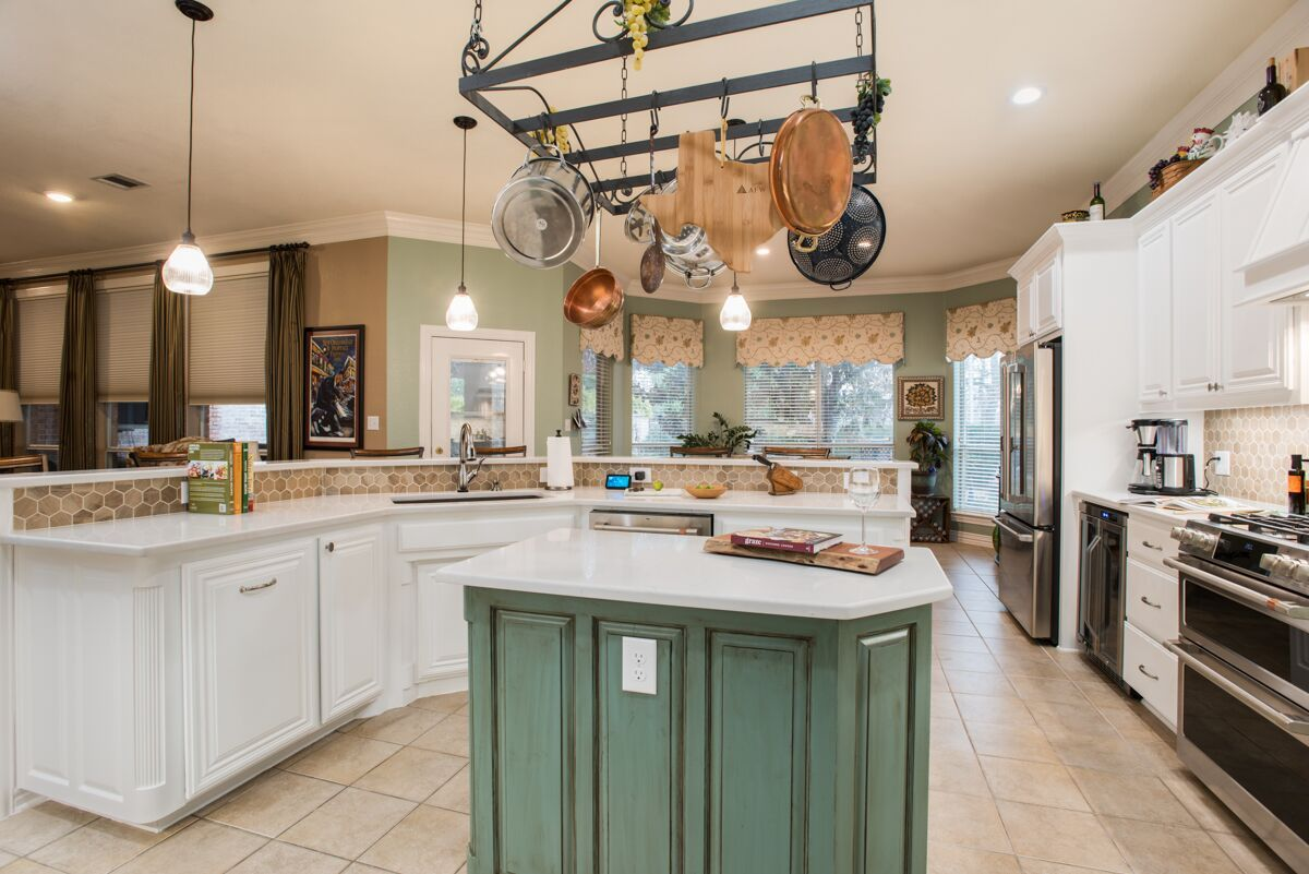 Kitchen Remodeling in Keller with Center Island